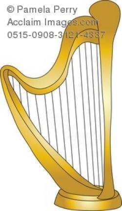 Harp clipart golden harp