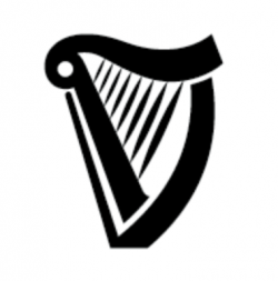 Guinness clipart black and white