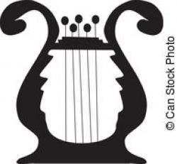 Harp clipart small hand