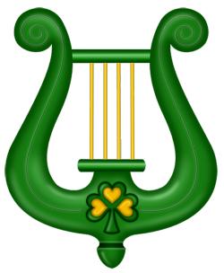 Harp clipart st patricks day