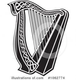 Harp clipart vector