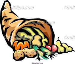 Cornucopia clipart cartoon