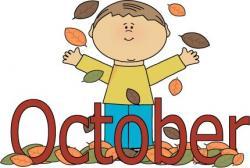 Falling clipart october calendar