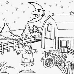 Harvest Moon clipart black and white