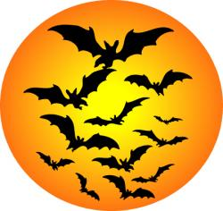 Harvest Moon clipart halloween bat