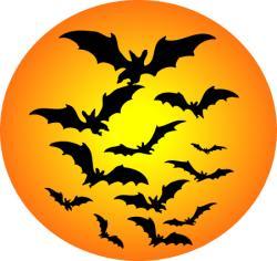 Harvest Moon clipart halloween bat