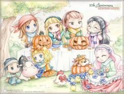 Harvest Moon clipart happy halloween