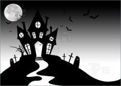Haunted clipart creepy house