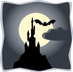 Harvest Moon clipart haunted hayride