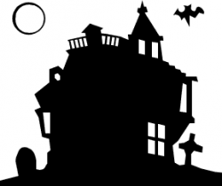 Haunted clipart silhouette