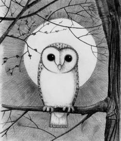 Harvest Moon clipart night owl