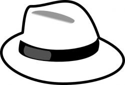 Straw Hat clipart black and white