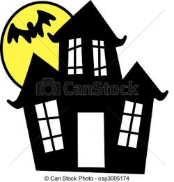 Spooky clipart creepy house