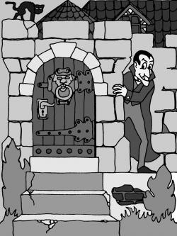 Haunted clipart door