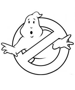 Ghostbusters clipart black and white