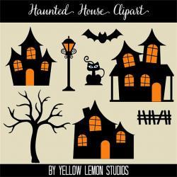 Haunted clipart halloween cat