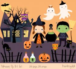 Haunted clipart halloween character