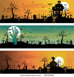 Haunted clipart halloween graveyard