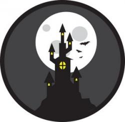 Haunted clipart halloween scene