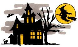 Library clipart haunted