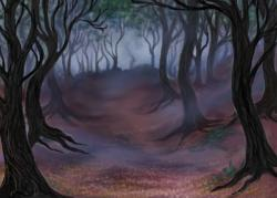 Dark Wood clipart spooky forest
