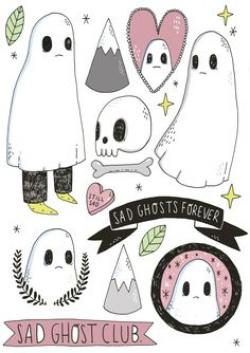 Haunted clipart sad ghost