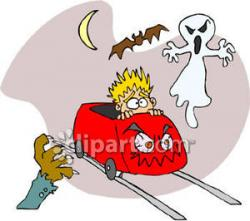 Scary clipart scared kid
