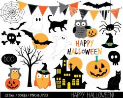 Fangs clipart halloween banner