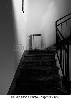 Haunted clipart staircase