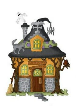 Haunted clipart witch house
