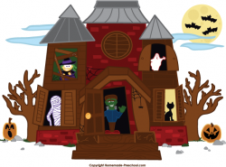 Spooky clipart witch house
