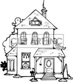Haunted House clipart nice house