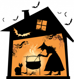 Witch clipart cottage