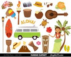 Ukulele clipart hawaiian man