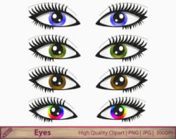 Comics clipart eye