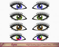 Hazel Eyes clipart female eye