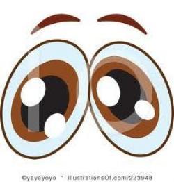 Eyeball clipart worried eye