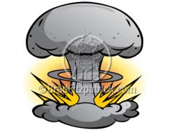 Destruction clipart nuclear bomb