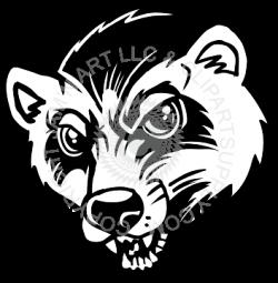 Honey Badger clipart wolverine