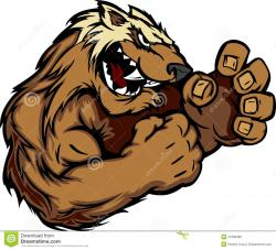 Honey Badger clipart cartoon