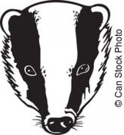 Honey Badger clipart mascot
