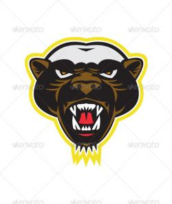 Honey Badger clipart head