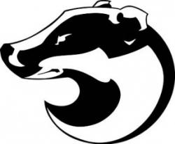 Honey Badger clipart black and white