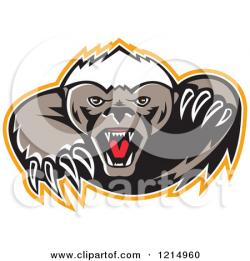 Honey Badger clipart animated