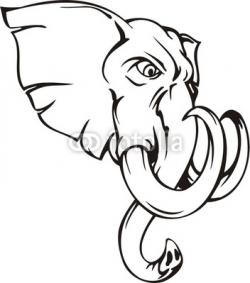 Tusk clipart elephant mascot