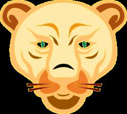 Lioness clipart face