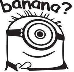 Despicable Me clipart minion banana