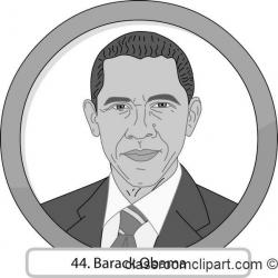 Barack Obama Clipart Black And White