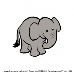 Larger clipart elephant head