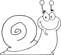Drawn snail clip art